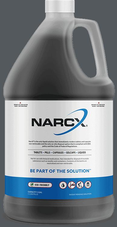 Bottle of NarcX Biodegradable Medication Disposal Solution